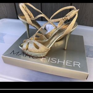 Marc Fisher gold high heels